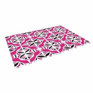 "Kess InHouse Miranda Mol ""Think Pink"" Indoor/Outdoor Floor Mat, 4-Feet by 5-Feet"