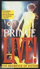 PRINCE / LIVE! - THE SACRIFICE OF VICTOR * NEW VHS VIDEO CASSETTE PAL * NEU *