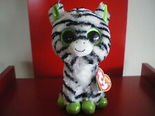 Ty Beanie Boos ZIG ZAG the zebra 6 inch NWMT. SPARKLY EYES,FEET & EARS