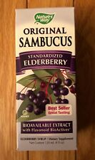 Natures Way Original Sambucus Syrup Standardized Elderberry 4 fl oz