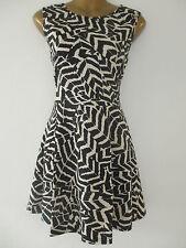 Skater Geometric Regular Size Dresses for Women