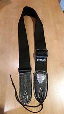 Soldier 2002 Adjustable Nylon/Cotton Guitar Strap (BLACK)!! FREE USA SHIPPING!