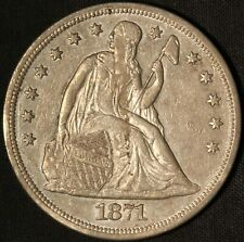 1871-P Seated Liberty Silver Dollar - Free Shipping USA