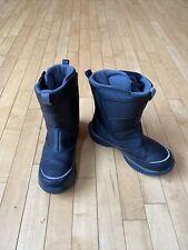 Lands End Kids Youth Boys Snow Winter Waterproof Hook Loop Boots Gray Black 5 M