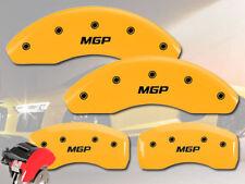 "2015-2017 Jeep Renegade Front + Rear Yellow ""MGP"" Brake Disc Caliper Covers 4pc"