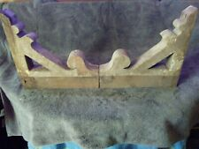 Pair Wood Corbels Carved Architectural Salvage Wall Decor