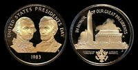 1983 United States Presidents Day Token, Cameo Proof, Washington & Lincoln