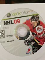 NHL 09 (Microsoft Xbox 360, 2008) Disc Only - Good Condition - FREE SHIPPING