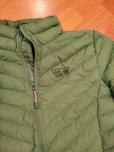 Mountain Hardwear Packable Lightweight Down Puffer Jacket Green Womens S