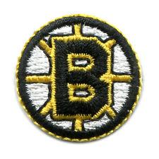 """1995-2007 BOSTON BRUINS NHL HOCKEY TINY 1"""" ROUND TEAM LOGO PATCH"""
