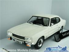 FORD CAPRI MK1 CAR MODEL WHITE 1:43 SIZE 60'S/70'S SPORTS COUPE 2 DOOR T3