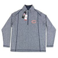 Chicago Bears NFL Antigua Mens XL Navy Blue 1/2 Zip Pullover Tempo Jacket