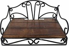 Indian Cultura Wrought Iron Wood Decorative Set Top Box Stand Holder for Wall