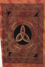 Indian Celtic Star Design Poster Small Tapestry Wall Hanging Fabulous Orange Art