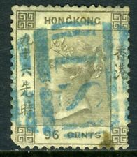 China 1865 Hong Kong 96¢ Brown Gray QV Wmk CCC SG #19 VFU J572 ⭐⭐⭐⭐⭐⭐