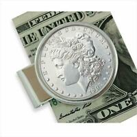 Genuine Sterling Silver Morgan Dollar Coin Money Clip Collectors Gift Free Ship