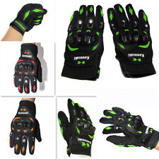 Leather Full Finger Knuckle Protection Mountain bike Motorbike Motorcycle Gloves