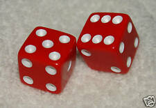 RED OPAQUE DICE PAIR