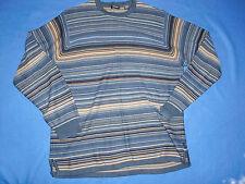 "Made in AUSTRALIA Men's""IZOD""Striped Logo 100%Cotton Crewneck Sweater size S"