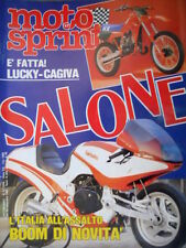 Motosprint 47 1983 E' fatta Lucky - Cagiva. Speciale Salone. Guzzi -Benelli Q76]
