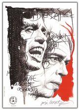 Ex-libris José CORREA JACQUES BREL Nocturne 50 ex numéroté signé 15x21 cm