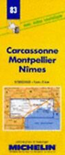 Carcassone/Montpellier/Nimes Map (1997, Hardcover, Revised)