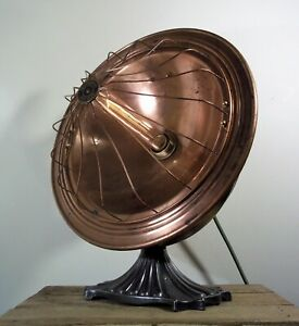 Vintage Rustic Copper Heat Lamp Country House Industrial/Steampunk Table/Light