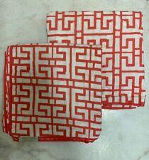 PAIR Nina Home by Nina Campbell Euro Pillow Shams ~ Coral /White 26X26 european