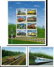 Eisenbahn Lokomotiven Burkina Faso 10 Marken (siehe Bilder) postfrisch **