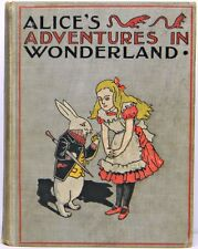 ALICE IN WONDERLAND Antique FIRST EDITION Alice's RARE Adventures LEWIS CARROLL