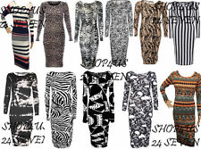 Viscose Animal Print Stretch, Bodycon Dresses for Women