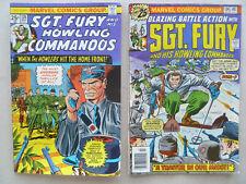 Lot of 2 Sgt. Fury & His Howling Commandos #126 May 1975  &  #134 July 1976