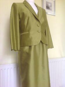 BEAUTIFUL PISTACHIO GREEN DRESS SUIT FROM HOBBS UK14 RRP £400.00