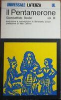 Il pentamerone vol. III - Giambattista Basile - Laterza -1974  - M