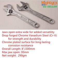 """Kobalt 8"""" Cr-V Steel Adjustable Wrench Spanner Shifter Max. 30mm Open Wide Jaw"""