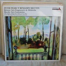 PETER PEARS & BENJAMIN BRITTEN – BRITTEN: SIX HÖLDERLIN HAYDN: SIX LP N. 3190