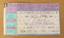 1992 David Byrne Uh-Oh Tour Los Angeles Concert Ticket Stub The Talking Heads 5