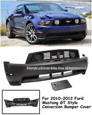 GT Style Front Bumper Cover W/ Upper & Lower Grille P.P. For 10-12 Ford Mustang