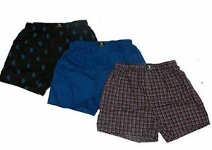 NEW*U.S. Polo Assn. Men's 3 Pack Woven Boxers, Assorted , Size SMALL only