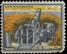 Reklamemarke Artilleriegeschütz vor Warschau - 421976