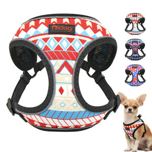 Step In Harness for Small Dogs Reflective Pet Cat Mesh Padded Walking Vest S/M/L