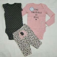 Baby girl clothes, PREEMIE  Carter's 3 piece set/new with tags