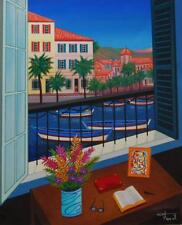 "Fanch Ledan, ""Window on Bonifacio"" (Fine Art on Canvas)"