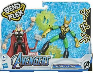 Marvel Avengers Bend and Flex Thor Vs. Loki  6 Inch Flexible Action Figure Toys