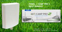 Alfa WiFi Camp Pro 2 long range WiFi repeater kit + Alfa APA-L2410 10dBi Panel