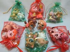 Littlest Pet Shop Lps Lot 3 Random Walkables Dog Cat Horse and Surprise Gift Bag