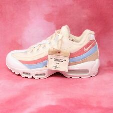 Nike Womens Air Max 95 QS Plant Color Collection Crimson Coral Blue Beige Size 9