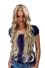 Perücke Wig BLOND Mix sehr lang gelockt Scheitel Haarersatz 80 cm MC011-27T613