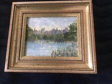 Vintage Painting of Arundel Castle River Arun Arundel Sussex by Myrtle Prosser
