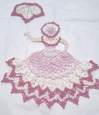 New listing Crochet Crinoline Lady Doily with Umbrella